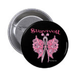 Survivor Celtic Butterfly - Breast Cancer Pin