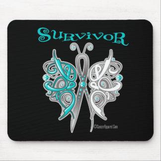 Survivor Celtic Butterfly - Cervical Cancer Mouse Pads