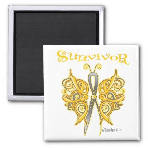 Survivor Celtic Butterfly - Childhood Cancer Magnets