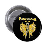 Survivor Celtic Butterfly - Childhood Cancer Pin