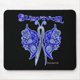 Survivor Celtic Butterfly - Colon Cancer Mouse Pad