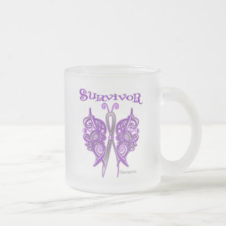 Survivor Celtic Butterfly - GIST Cancer 10 Oz Frosted Glass Coffee Mug