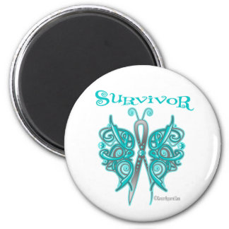 Survivor Celtic Butterfly - Gynecologic Cancer 2 Inch Round Magnet