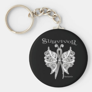 Survivor Celtic Butterfly - Lung Cancer Key Chain