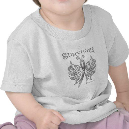Survivor Celtic Butterfly - Lung Cancer Shirt