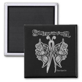 Survivor Celtic Butterfly - Melanoma 2 Inch Square Magnet