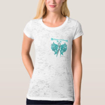 Survivor Celtic Butterfly - Ovarian Cancer T-Shirt