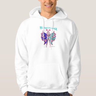 Survivor Celtic Butterfly - Thyroid Cancer Hooded Sweatshirt