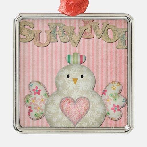 survivor chick pink christmas ornaments