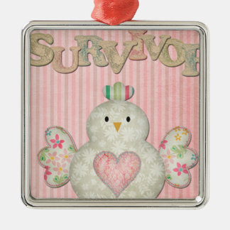 survivor chick pink christmas ornaments