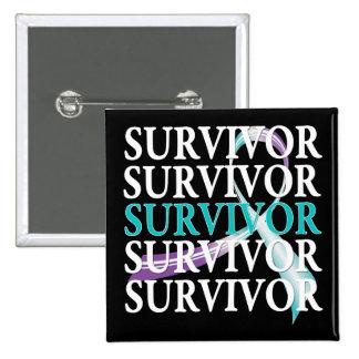 Survivor Collage Domestic Violence Sexual Assault Button