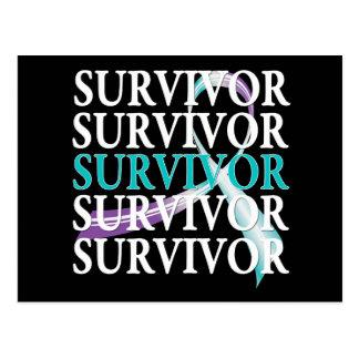 Survivor Collage Domestic Violence Sexual Assault Postcard