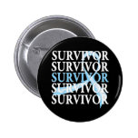 Survivor Collage Prostate Cancer 2 Inch Round Button