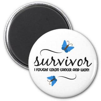 Survivor - Colon cancer 2 Inch Round Magnet