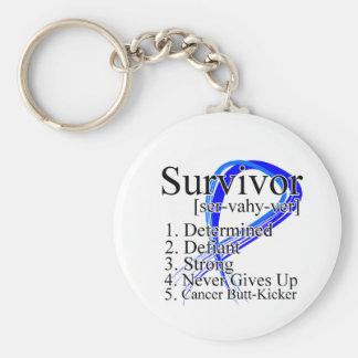 Survivor Definition - Anal Cancer Key Chain