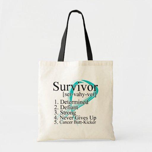 Survivor Definition - Cervical Cancer Budget Tote Bag