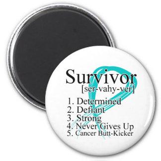 Survivor Definition - Gynecologic Cancer 2 Inch Round Magnet