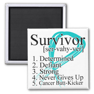 Survivor Definition - Gynecologic Cancer 2 Inch Square Magnet