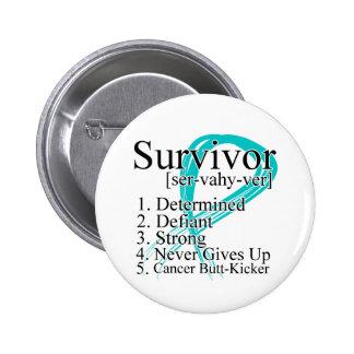 Survivor Definition - Gynecologic Cancer Pinback Button
