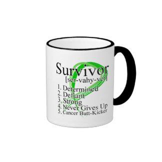 Survivor Definition - Kidney Cancer Ringer Coffee Mug