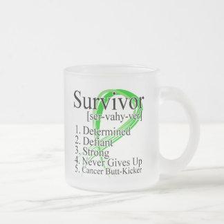 Survivor Definition - Kidney Cancer 10 Oz Frosted Glass Coffee Mug