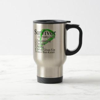 Survivor Definition - Kidney Cancer 15 Oz Stainless Steel Travel Mug