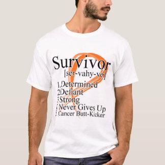 Survivor Definition - Kidney Cancer (Orange) T-Shirt