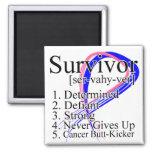 Survivor Definition - Male Breast Cancer Refrigerator Magnet