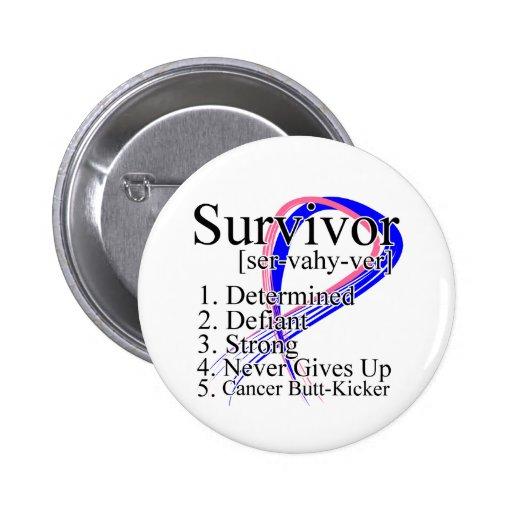 Survivor Definition - Male Breast Cancer Pins