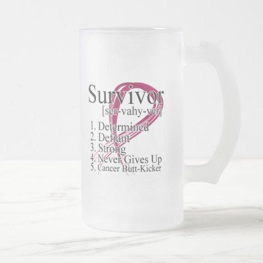 Survivor Definition - Multiple Myeloma 16 Oz Frosted Glass Beer Mug