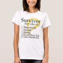 Survivor Definition - Neuroblastoma Cancer T-Shirt