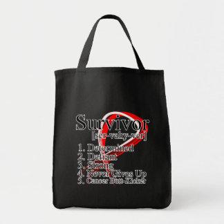 Survivor Definition - Oral Cancer Tote Bags