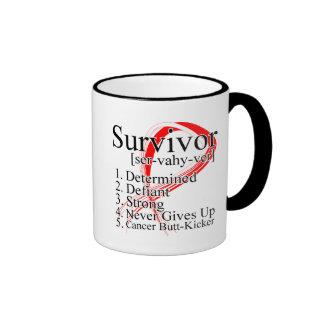 Survivor Definition - Oral Cancer Coffee Mug
