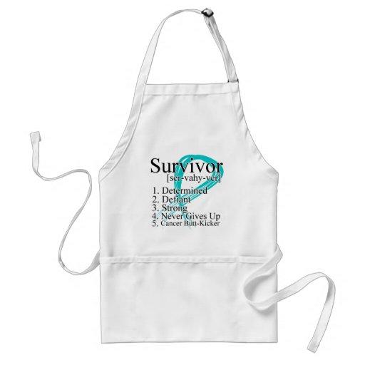Survivor Definition - Ovarian Cancer Adult Apron