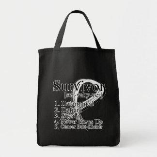 Survivor Definition - Retinoblastoma Grocery Tote Bag