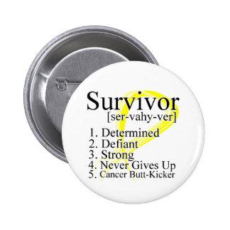 Survivor Definition - Testicular Cancer Pinback Button