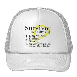 Survivor Definition - Testicular Cancer Trucker Hats