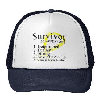 Survivor Definition - Testicular Cancer Hats