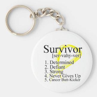 Survivor Definition - Testicular Cancer Keychain