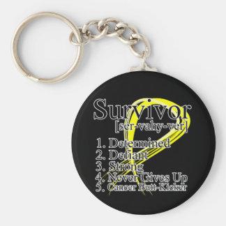 Survivor Definition - Testicular Cancer Keychains