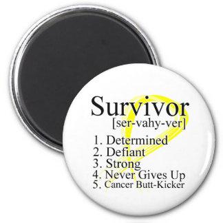 Survivor Definition - Testicular Cancer Fridge Magnets