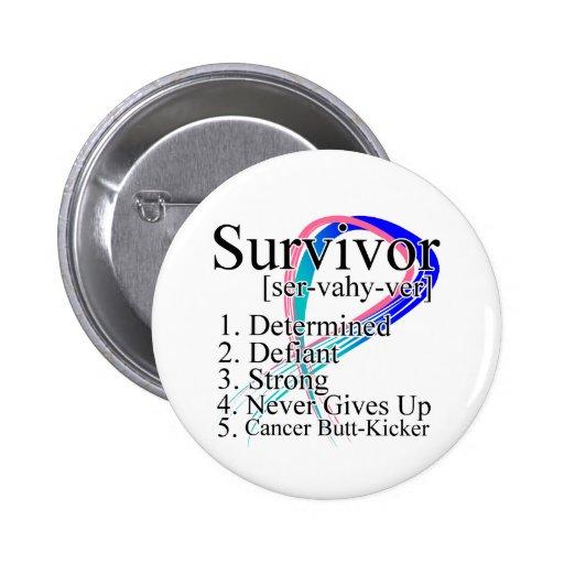 Survivor Definition - Thyroid Cancer Pin