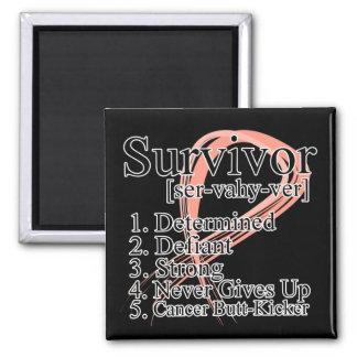 Survivor Definition - Uterine Cancer 2 Inch Square Magnet