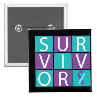 Survivor  - Domestic Violence and Sexual Assault Pinback Button