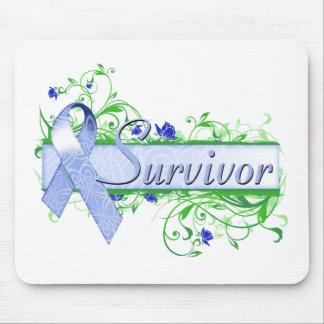 Survivor Floral Blue Mouse Pad