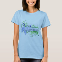 Survivor Floral Blue T-Shirt