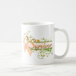 Survivor Floral Orange Coffee Mug