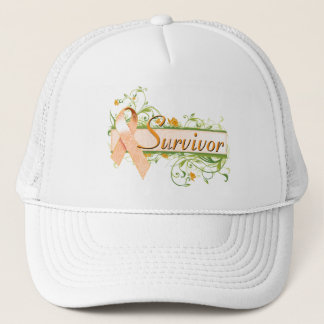 Survivor Floral Orange Trucker Hat
