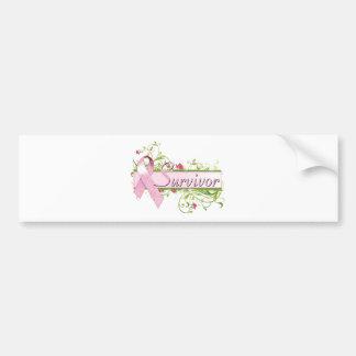 Survivor Floral Pink Bumper Sticker