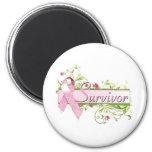 Survivor Floral Pink Magnets